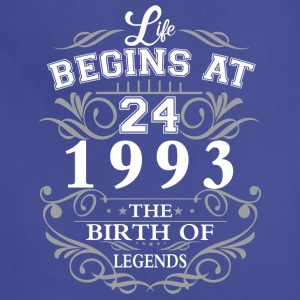 Life begins at 24 1993 The birth of legends - Adjustable Apron