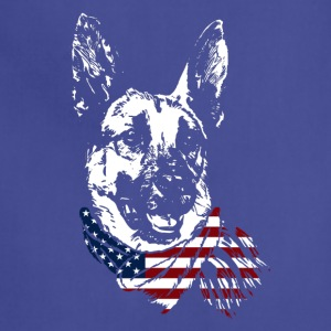 German Shepherd USA Shirt - Adjustable Apron