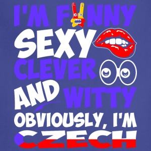 Im Funny Sexy Clever And Witty Im Czech - Adjustable Apron