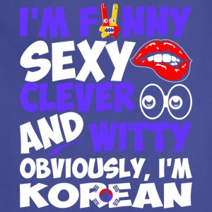 Im Funny Sexy Clever And Witty Im Korean - Adjustable Apron