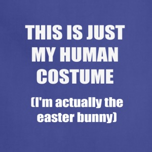 Funny easter bunny t shirt tee - Adjustable Apron