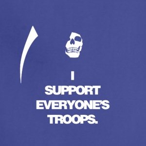 Death supports everyone's troops - Adjustable Apron