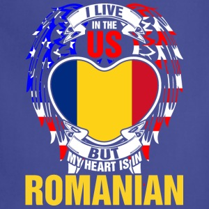 I Live In The Us But My Heart Is In Romanian - Adjustable Apron