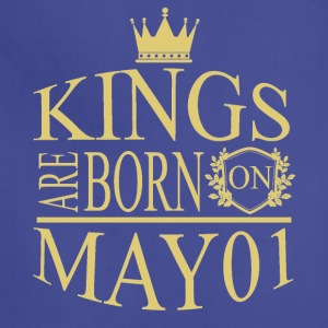 Kings are born on May 01 - Adjustable Apron