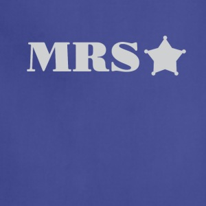 Mrs Police Officer Wife girlfriend Tee Shirt - Adjustable Apron