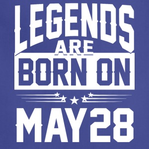 Legends are born on May 28 - Adjustable Apron