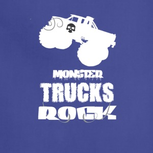 Monster Trucks Rock Cool Tee Shirt - Adjustable Apron