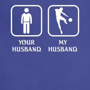 Husband Soccer Player Love-cool shirt,geek hoodie - Adjustable Apron