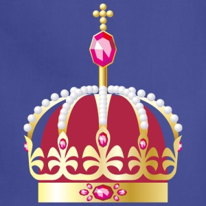 gold Royal crown decorated with precious stones - Adjustable Apron