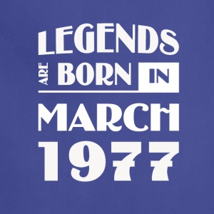 Legends are born in March 1977 - Adjustable Apron