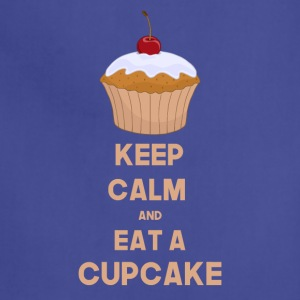 Funny Keep calm and eat a cupcake - Adjustable Apron