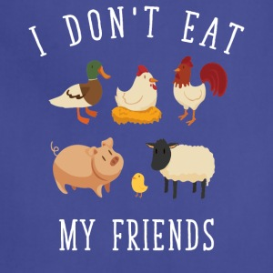 I don't eat my friends - Adjustable Apron