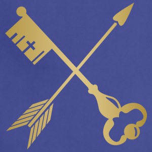 Golden Arrow key Weapon heraldic drawing emblem - Adjustable Apron