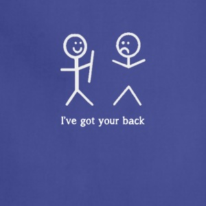 I've Got Your Back Funny Stick Figure T-Shirt - Adjustable Apron