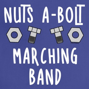 Marching Band Nuts and Bolts White Text - Adjustable Apron