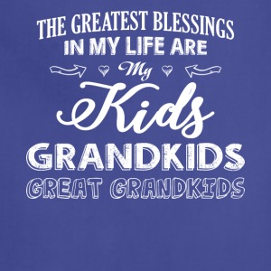 My Life Are My Kids Grandkids T Shirt - Adjustable Apron