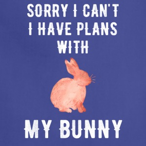 Sorry I can't I have plans with my bunny - Adjustable Apron