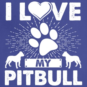 Love My Pitbull Dog Puppies T-shirt Pitbull Tee - Adjustable Apron
