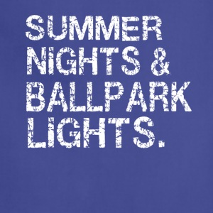 Summer nights and ballpark lights - Adjustable Apron
