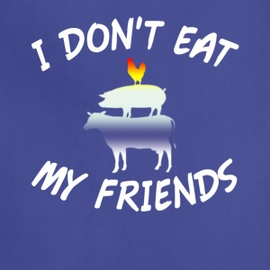 I Don t Eat My Friends Vegetarian Vegan T Shirt - Adjustable Apron