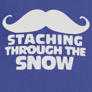 Mustaching through snow - Adjustable Apron
