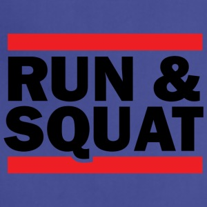 Run Squat Black on Light - Adjustable Apron