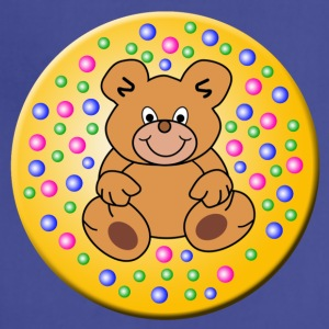 teddy bear in a round frame - Adjustable Apron