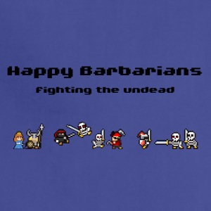 Happy Barbarians - fighting the undead - Adjustable Apron