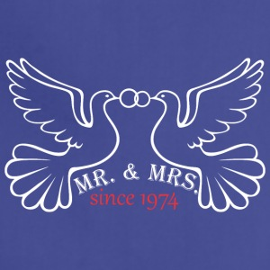 Mr And Mrs Since 1974 Married Marriage Engagement - Adjustable Apron