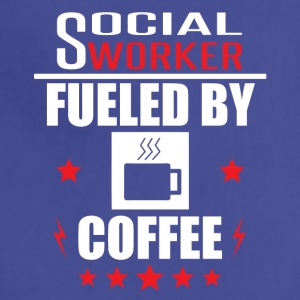 Social Worker Fueled By Coffee - Adjustable Apron