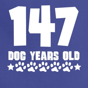 147 Dog Years Old Funny 21st Birthday - Adjustable Apron