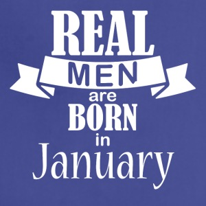 Real men born in January - Adjustable Apron