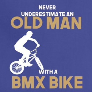 never undererstimate an old man with a bmx bike - Adjustable Apron
