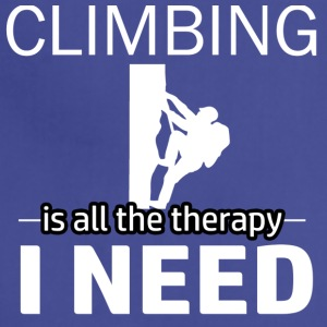 Climbing is my therapy - Adjustable Apron