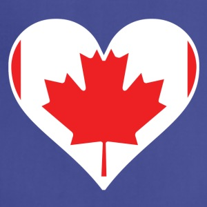 Canadian Flag Heart - Adjustable Apron