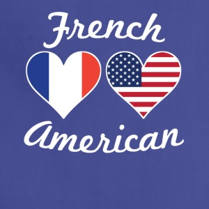 French American Flag Hearts - Adjustable Apron