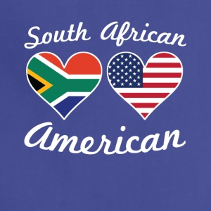 South African American Flag Hearts - Adjustable Apron