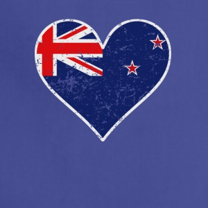 Distressed New Zealand Flag Heart - Adjustable Apron