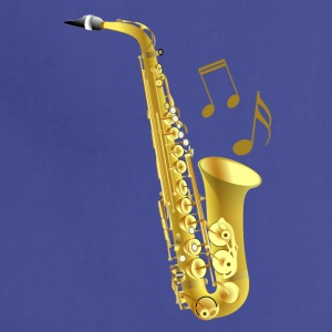 Saxophone with music notes - Adjustable Apron