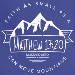 Matthew 17:20 (White) - Adjustable Apron