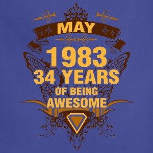 May 1983 34 Years of Being Awesome - Adjustable Apron