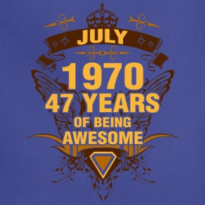 July 1970 47 Years of Being Awesome - Adjustable Apron