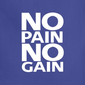 No Pain No Gain logo | White - Adjustable Apron