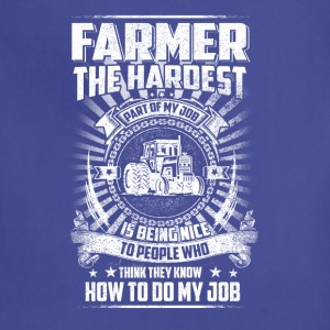 Farmer the hardest T Shirts - Adjustable Apron