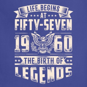 Life Begins At Fifty Seven Tshirt - Adjustable Apron