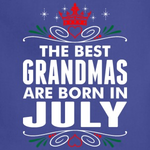 The Best Grandmas Are Born In July - Adjustable Apron