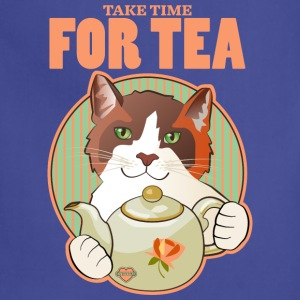 Take Time for Tea Calico Cat T Shirt - Adjustable Apron
