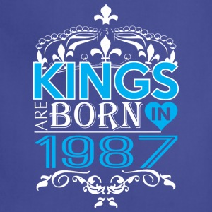 Kings Are Born In 1987 Happy Fathers Day - Adjustable Apron