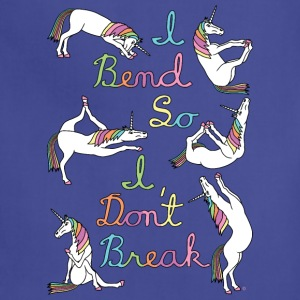 I Bend So I Don t Break 6 Unicorns Cursive Outlin - Adjustable Apron