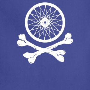 Bicycle Wheel Cross Bones - Adjustable Apron